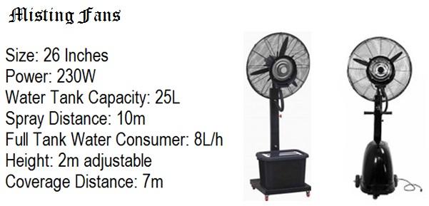 Mist Cooling Fan Rental Anycarnaytime Com